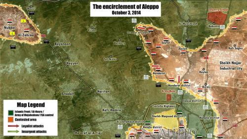 Kessel von Aleppo, 03.10.2014