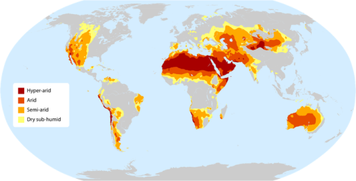 Trockengebiete Quelle: FAO Kriterien: FAO